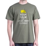 Keep Calm and Back Away Slowly Dark T-Shirt