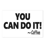You Can Do It Coffee Postcards (Package of 8)