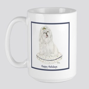 Christmas Shih Tzu White Large Mug