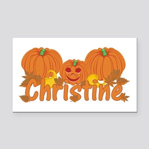 Halloween Pumpkin Christine Rectangle Car Magnet