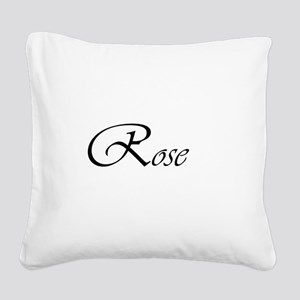 Rose Square Canvas Pillow