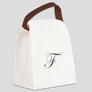Edwardian Script-F Canvas Lunch Bag