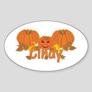 Halloween Pumpkin Cindy Sticker (Oval)