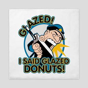 Police Glazed Donuts Queen Duvet