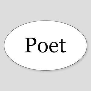 Poet Oval Sticker