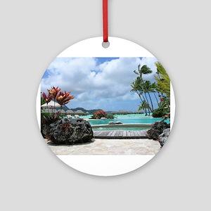 Bora Bora Tropical Paradise Ornament (Round)