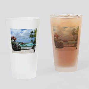 Bora Bora Tropical Paradise Drinking Glass