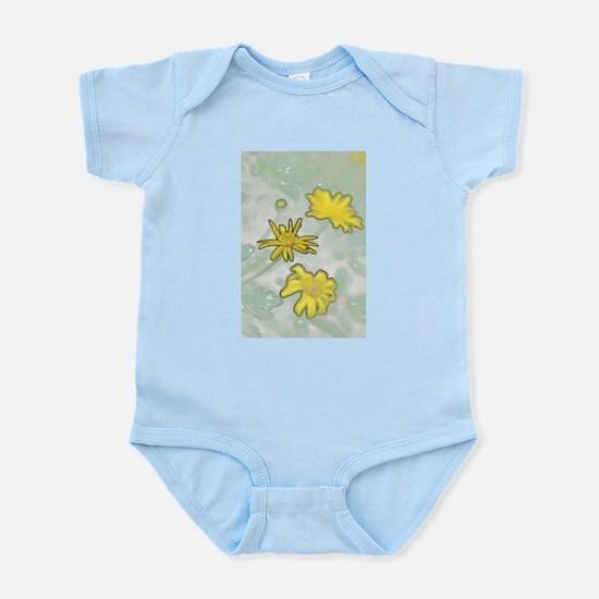 Yellow Flowers in a Garden Infant Bodysuit