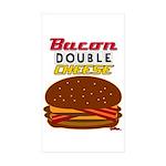 BaconDoubleCheese-2012-c Sticker (Rectangle 50 pk)