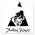 Skulboy Designs logo Square Car Magnet 3