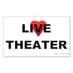 live_theater_white Sticker (Rectangle 50 pk)