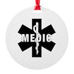 Medic EMS Star of L... Round Ornament
