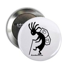Kokopelli Backpacker Button