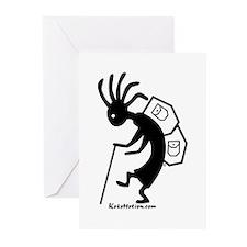 Kokopelli Backpacker Greeting Cards (Pk of 10)