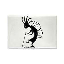 Kokopelli Backpacker Rectangle Magnet (100 pack)