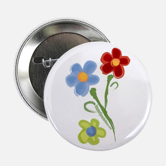 """HOPe Flowers 2.25"""" Button"""