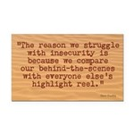The Insecurity Struggle Rectangle Car Magnet
