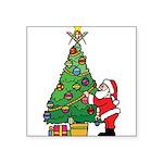 Santa and our star Square Sticker 3