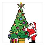 Santa and our star Square Car Magnet 3
