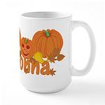 Halloween Pumpkin Donna Large Mug