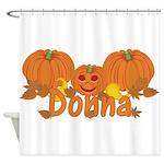 Halloween Pumpkin Donna Shower Curtain