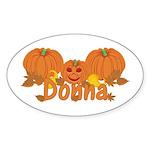 Halloween Pumpkin Donna Sticker (Oval)