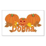 Halloween Pumpkin Donna Sticker (Rectangle)