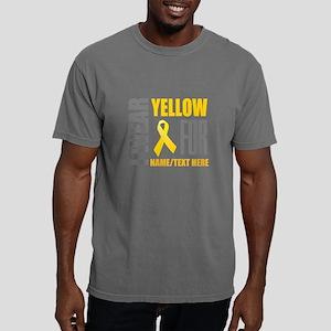 Yellow Awareness Ribbon Mens Comfort Colors Shirt