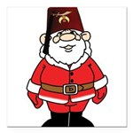 Santa The Shriner Square Car Magnet 3