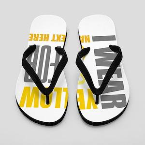 Yellow Awareness Ribbon Customized Flip Flops