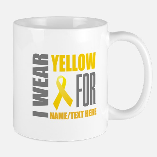 Yellow Awareness Ribbon Customiz Mug