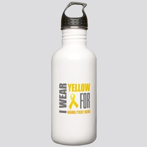 Yellow Awareness Ribbo Stainless Water Bottle 1.0L