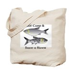 Asian Carp Bighead Silver Eat and Save Tote Bag