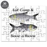 Asian Carp Bighead Silver Eat and Save Puzzle