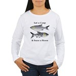 Asian Carp Bighead Silver Eat and Save Women's Lon