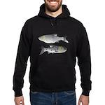 Asian Carp Bighead Silver Eat and Save Hoodie (dar