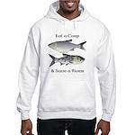 Asian Carp Bighead Silver Eat and Save Hooded Swea