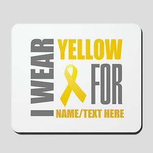 Yellow Awareness Ribbon Customized Mousepad