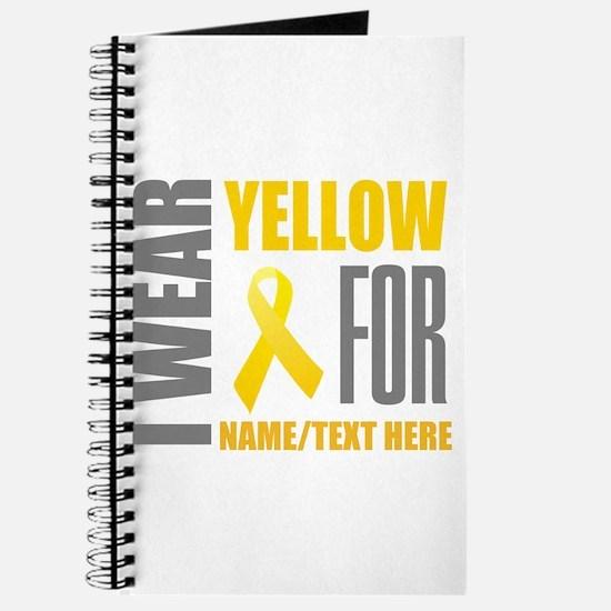 Yellow Awareness Ribbon Customized Journal