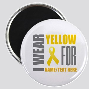 Yellow Awareness Ribbon Customized Magnet