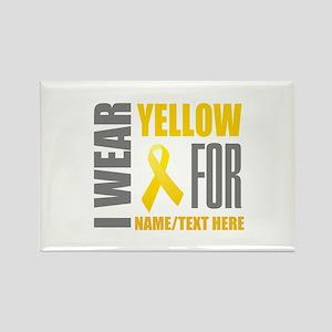 Yellow Awareness Ribbon Customize Rectangle Magnet