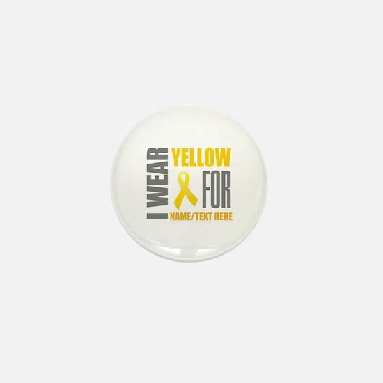 Yellow Awareness Ribbon Customized Mini Button