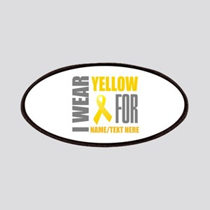 Yellow Awareness Ribbon Customized Patch