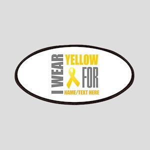 Yellow Awareness Ribbon Customized Patch