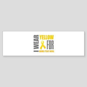Yellow Awareness Ribbon Customize Sticker (Bumper)