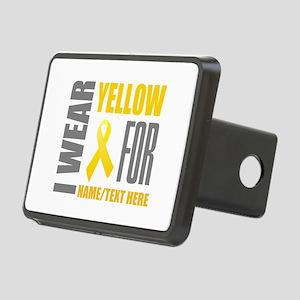 Yellow Awareness Ribbon Cu Rectangular Hitch Cover