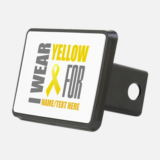 Yellow Awareness Ribbon Cu Hitch Cover
