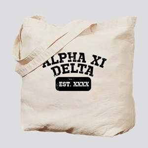 Alpha Xi Delta Athletic Personalized Tote Bag
