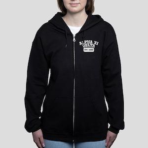 Alpha Xi Delta Athletic Persona Women's Zip Hoodie