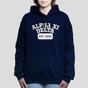 Alpha Xi Delta Athletic Women's Hooded Sweatshirt